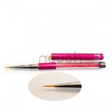 Pennello Linee Sottili n.01 Pink lunghezza 7 mm